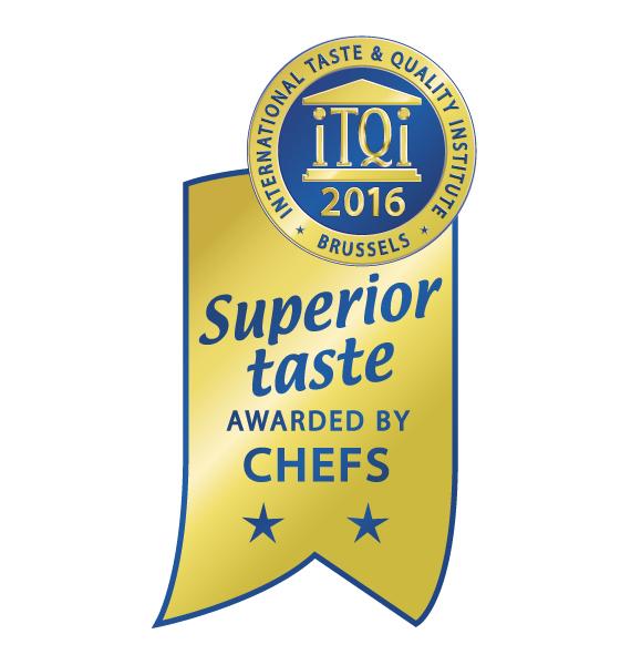 L'iTQi Superior Taste Award (Award du Goût Supérieur) est une reconnaissance unique de qualité gustative. Il certifie que les produits alimentaires et les boissons primés ont rencontré ou dépassé les attentes des jurys d'iTQi, composés de 120 top Chefs et Sommeliers européens. Les produits sont testés à l'aveugle sur base de leurs mérites propres suivant un processus d'analyse sensorielle qui garantit une totale neutralité.